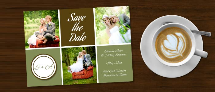 Personalize your own card with Winkflash, send your own save the date cards