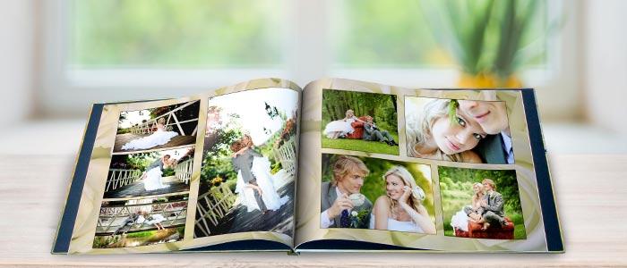 Create your own professionally bound wedding photo album with Winkflash photo books
