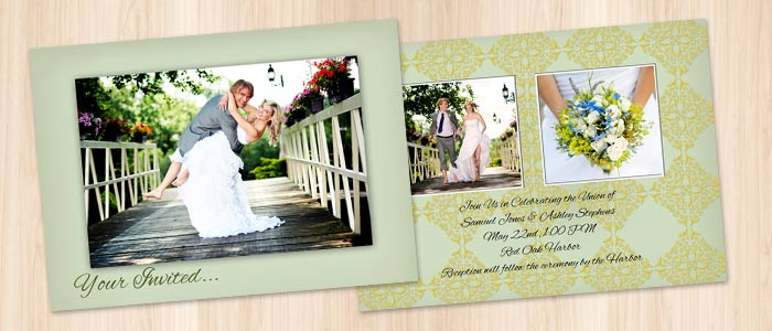 Personalized cards and custom invitations and announcements from Winkflash for your beautiful wedding day