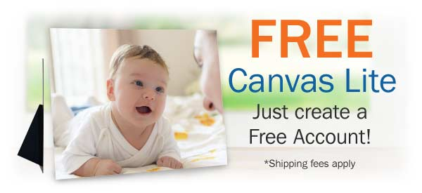 Free Canvas Lites Print when you Join Winkflash