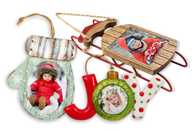 Unique photo ornaments for your Christmas tree on sale now