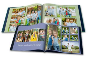 Custom Photo Memory Books with Professionally printed pages and personalized text