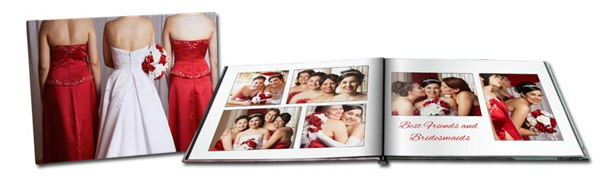 Create the perfect bridemaid books using our many customized options and your own photos.
