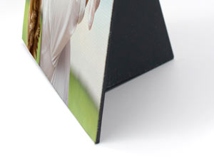 Thin, mini canvas prints you can place on your desk, wall or shelf