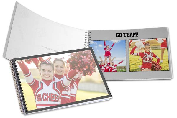 Highlight your Childs sporting events with a personalized photo book