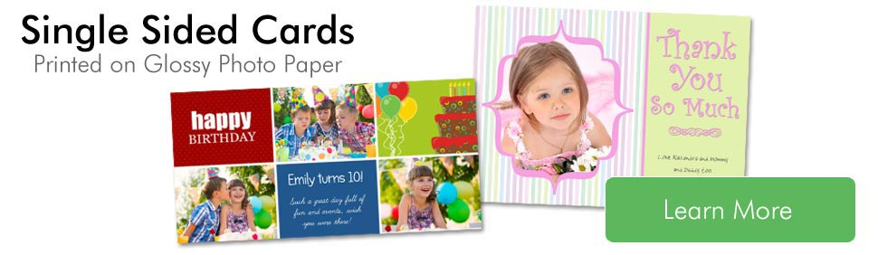 Classic Photo Cards; Single Sided Glossy Cards on Photographic Paper