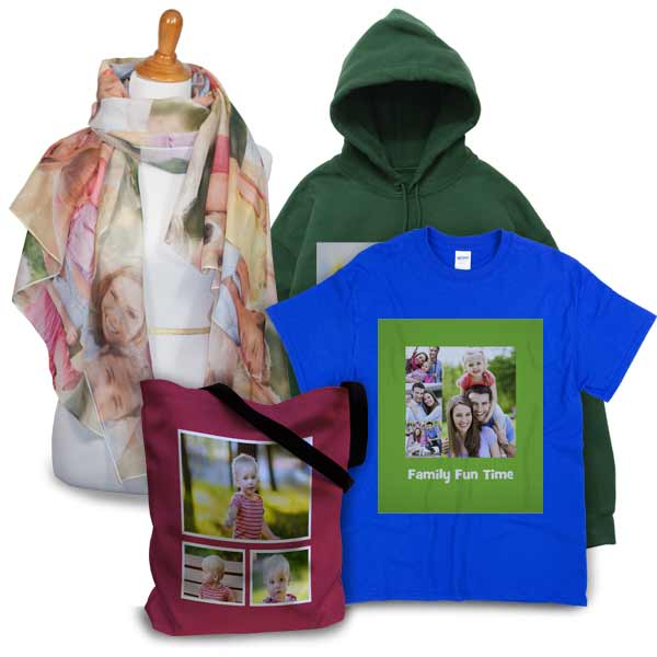 Design your own T-Shirt, scarf or tote bag with our variety of custom options and templates