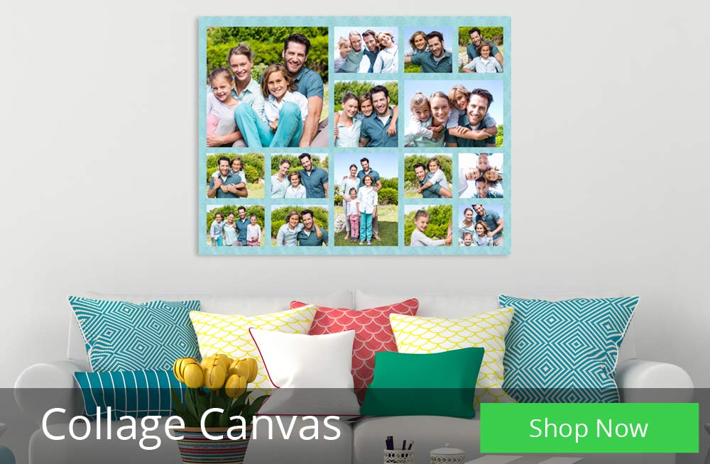 Create a photo collage canvas to tell a story with photos