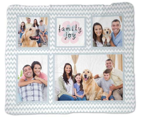 Incorporate your family memories into your décor with our customized blankets and throws.