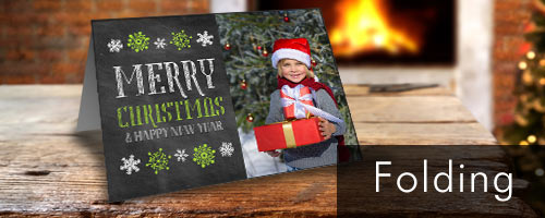 create a classic folding card using your own photos for an unique greeting everyone will adore - Photo Personalized Christmas Cards