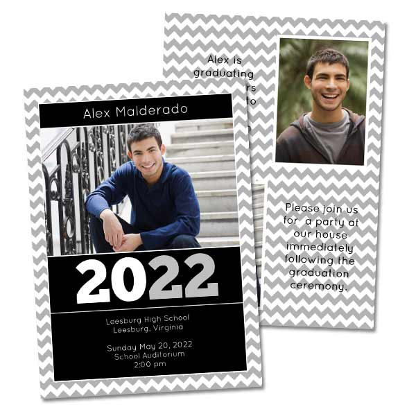 Double Sided Graduation Cards and Announcements