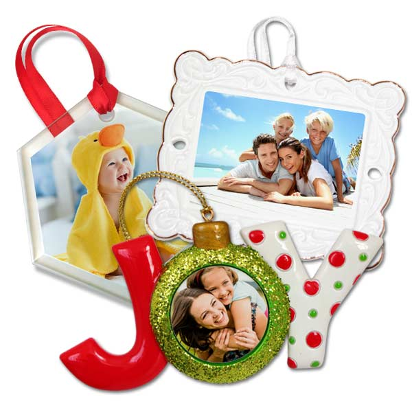 Personalize your holiday décor with our custom photo Christmas ornaments.