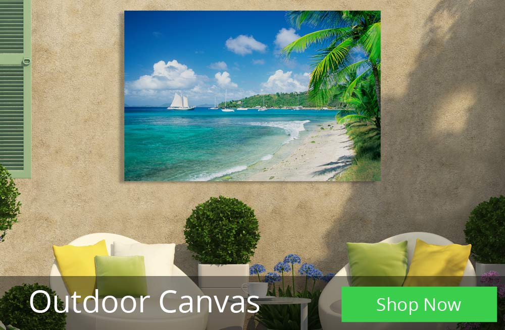 Beautiful Outdoor Photo Canvas perfect for your patio