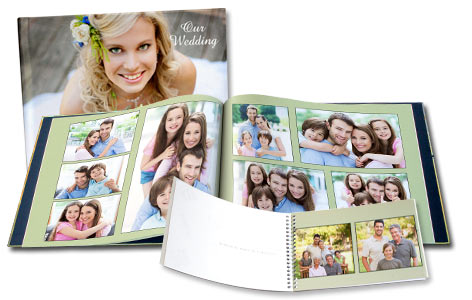 Display your wedding photos with pride by creating your own personalized wedding album.