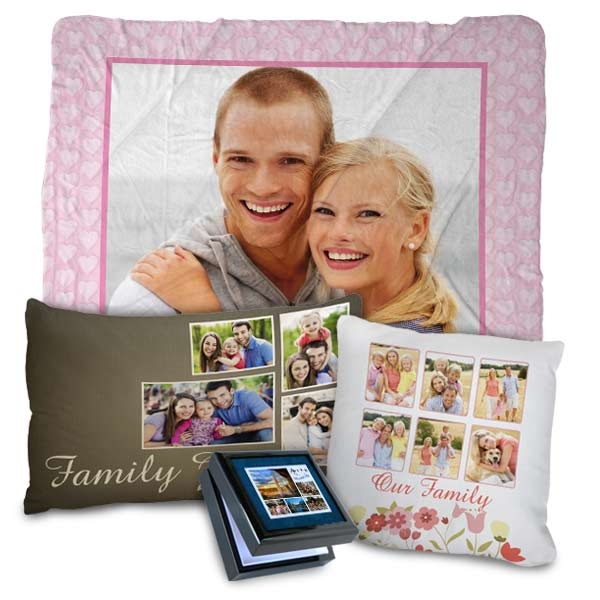 Customize the look of your home with our photo blankets, pillows, towels and more!