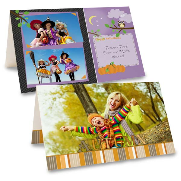 Create your own Christmas cards with beautiful folding cards from MailPix