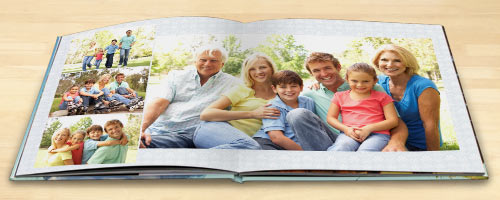 Create a high quality beautiful photo book with pages that lay flat when viewing.