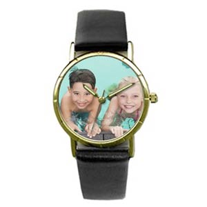 Custom Photo Gold Frame Watch