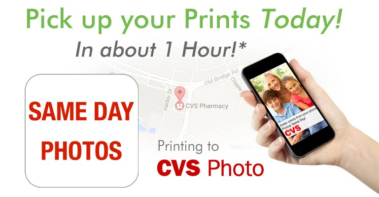 Same day Photo prints from your Android Phone, pick them up in 1 hour