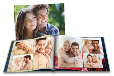 Design your own personalized photo book with custom photo cover and text