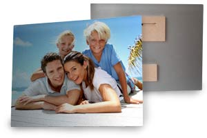 Photos printed on real metal, aluminum photo prints