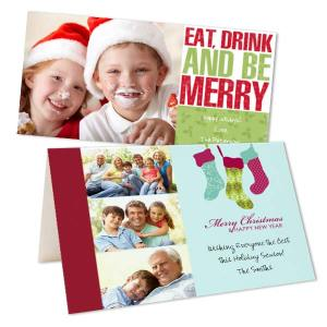 Add a unique flair to your Christmas greetings this year with your favorite photos and custom text.