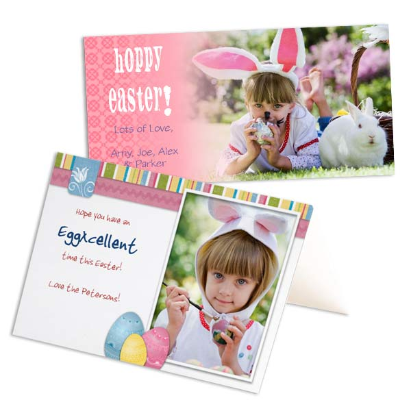 Create your own Easter cards online using your best photos and custom text.