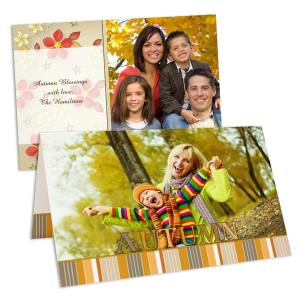 Perfect for Thanksgiving or just to ring in fall, our autumn cards are available in multiple styles.