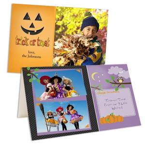 Design your own Halloween cards complete with a favorite photo and custom text.