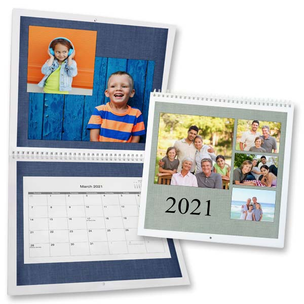 Enjoy a new photo each month with our custom photo 12x12 wall calendar.