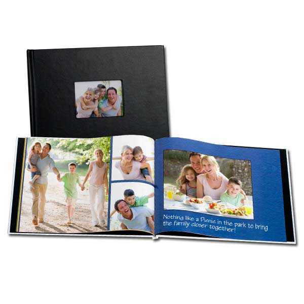 Choose from leather and linen and create your own stunning window cover book of your favorite photos.
