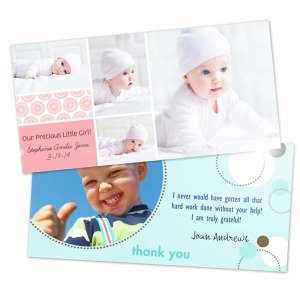 Metallic 4x8 holiday photo greeting cards