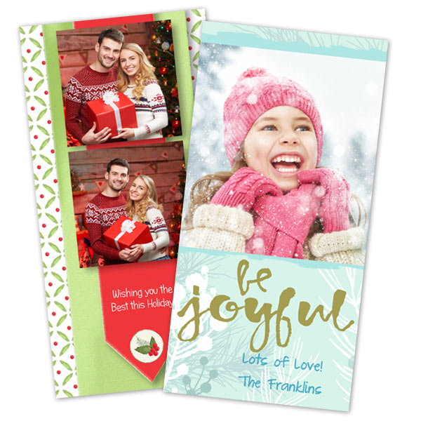 send your 4x8 christmas cards with winkflash - Personalized Holiday Cards