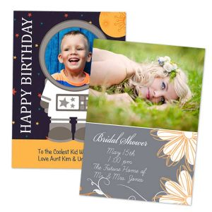 Create a custom 5x7 photo card for any occasion with Winkflash