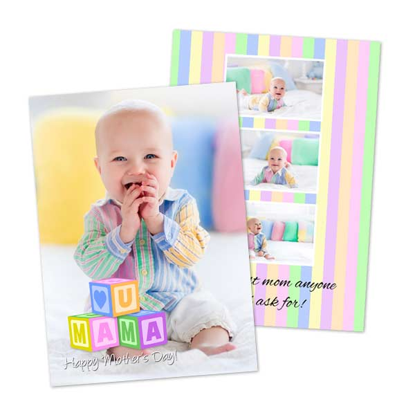 Create a custom card for Mom with Winkflash Mothers day photo cards