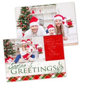 Create your own double sided stock cards with Winkflash Holiday Christmas cards