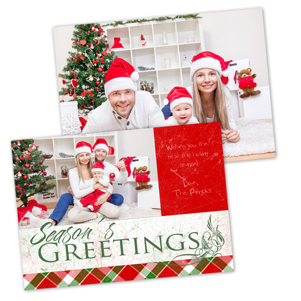 create your own double sided stock cards with winkflash holiday christmas cards - Create Your Own Christmas Card