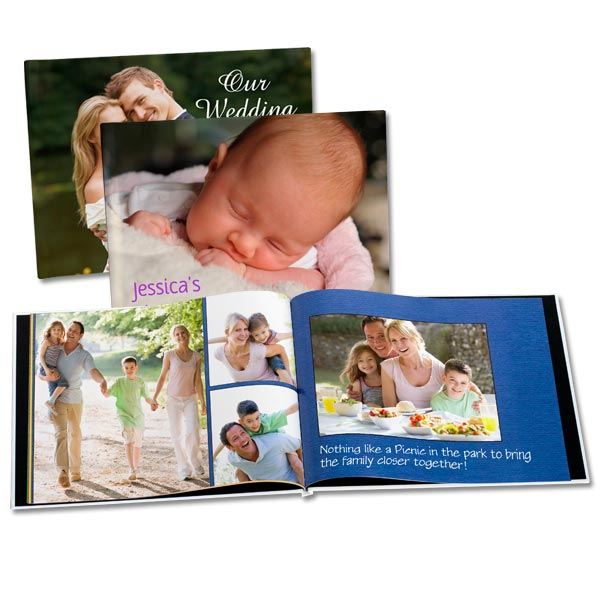 Hard Cover Photo Books with Personalized Glossy Photo Covers