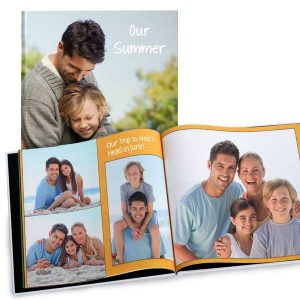 Create your own 8x8 photo album perfect for your favorite square photos.