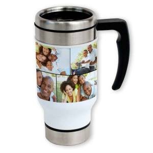 Personalize your own travel mug with custom photos and text and liven up your morning commute.