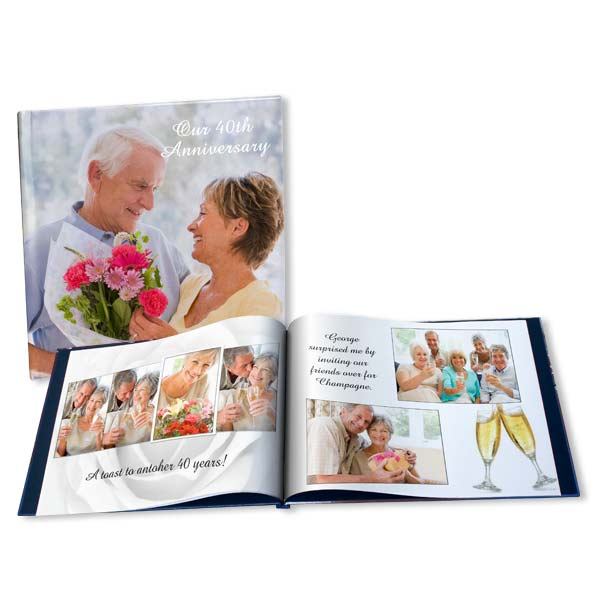 Celebrate any anniversary with grace and create personalized anniversary photo book of your best memories.