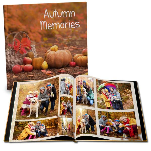 Create a fall photo book to remember your autumn adventures