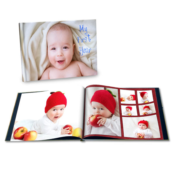 Remember the first years with a custom photo book for your baby