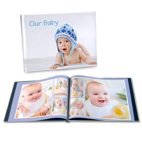 A beautiful professionally bound baby book for your baby