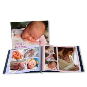 Celebrate the birth of your baby with our fully customized baby picture albums and photo books.