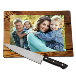 Enjoy a favorite memory while cooking and create your own customized cutting board with a unique photo.