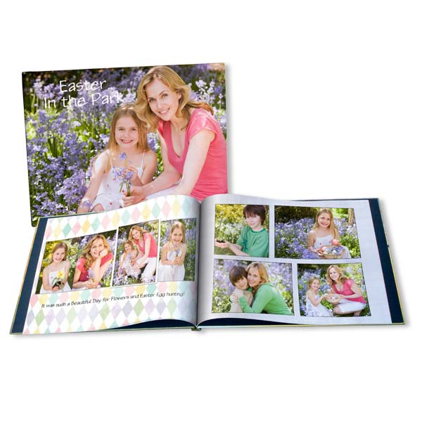 Display your favorite springtime easter photos together with a fully customized Easter picture album.