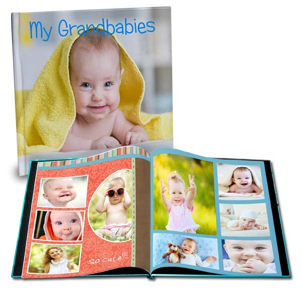 Create a photo book featuring photos of your grand children
