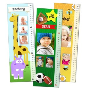 Our custom photo adhesive growth charts can be personalized with your little one's name and photo.