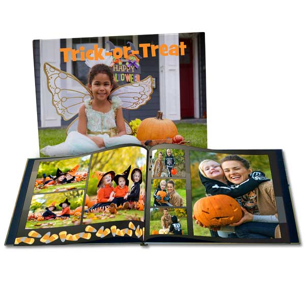 Create a custom photo book to help you remember your Halloween fun trick or treating